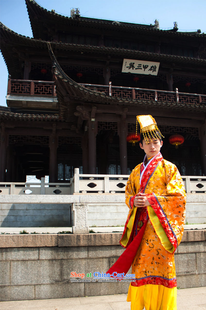 Ancient clothing Emperor Qin Shi Huang Han Dynasty aka clothing costumes Zerubbabel theatrical performances are Code Red
