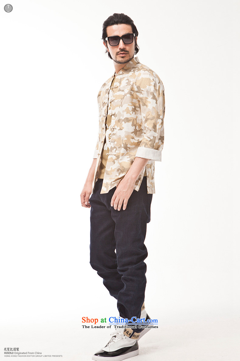 China wind cotton linen camouflage retreat Yi Men's Mock-Neck tray clip Chinese style spring and summer shirt retro national yellow聽165/80A picture, prices, brand platters! The elections are supplied in the national character of distribution, so action, buy now enjoy more preferential! As soon as possible.