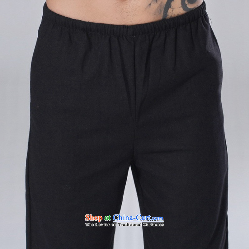 In accordance with the new l love men of ethnic Chinese improved casual pants elastic waist pure color Tang聽LGD/P0015# pants聽White聽XL, in accordance with the Love l , , , shopping on the Internet