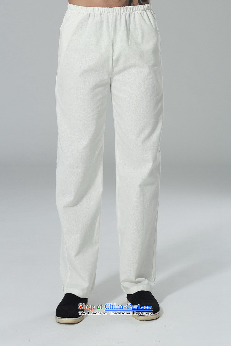 In accordance with the new l love men elastic waist pure color Tang dynasty casual pants straight legged pants foot kept their mouths shut-chi trousers聽LGD/P0014#聽white聽L picture, prices, brand platters! The elections are supplied in the national character of distribution, so action, buy now enjoy more preferential! As soon as possible.