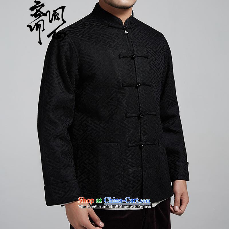 Q Shinsaibashi represented a health autumn [New Men China wind silk jacquard long-sleeved jacket Tangdark blueXXXL, 1074 Q heart of Ramadan , , , shopping on the Internet