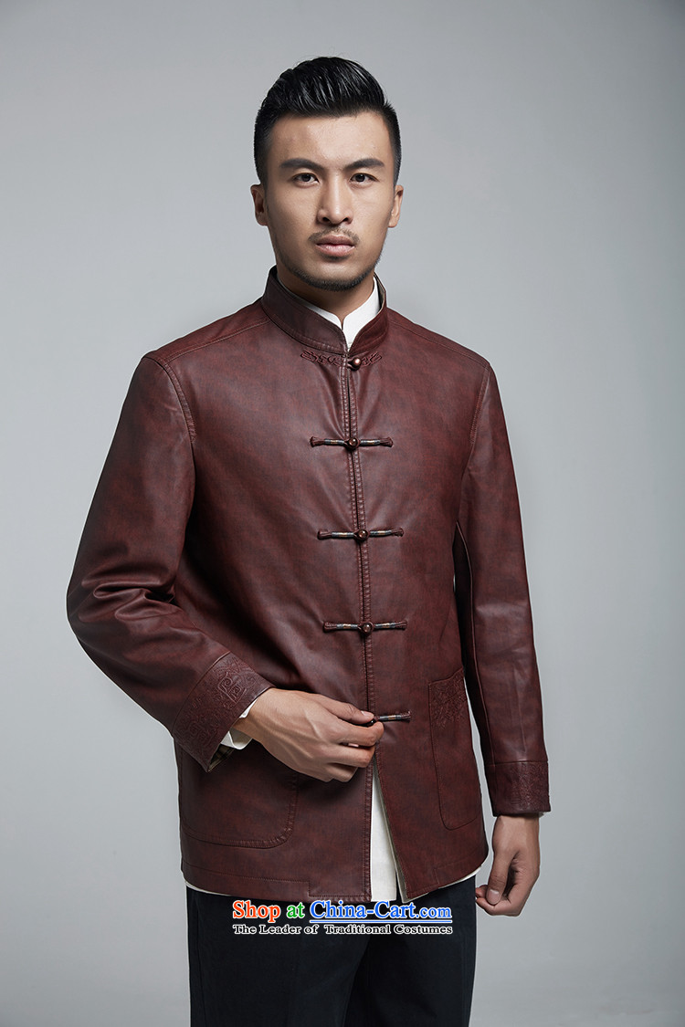 Q Shinsaibashi represented a health autumn [men on the new Chinese Jacket coat buttoned, rom leisure WXZ1156 wine red XXXXL picture, prices, brand platters! The elections are supplied in the national character of distribution, so action, buy now enjoy more preferential! As soon as possible.
