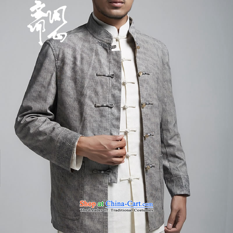 Q Shinsaibashi represented a health autumn [men on the new Chinese Jacket coat buttoned, rom leisure WXZ1156 wine red XXXXL, Q Shinsaibashi represented shopping on the Internet has been pressed.