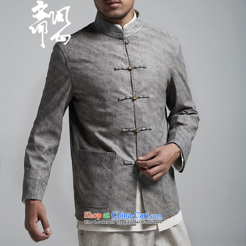 Q Shinsaibashi represented a health autumn [men on the new Chinese Jacket coat buttoned, rom leisure WXZ1156 wine redXXXXL, Q Shinsaibashi represented shopping on the Internet has been pressed.