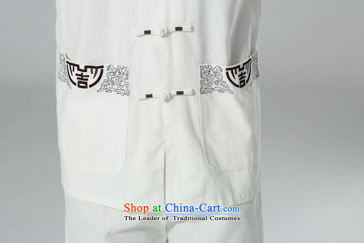 In accordance with the fuser summer men new tai chi short-sleeved shirt embroidery Services + casual pants father replace short-sleeved Tang Dynasty Package LGD/AB0002# Black XL pictures, -A price, brand platters! The elections are supplied in the national character of distribution, so action, buy now enjoy more preferential! As soon as possible.