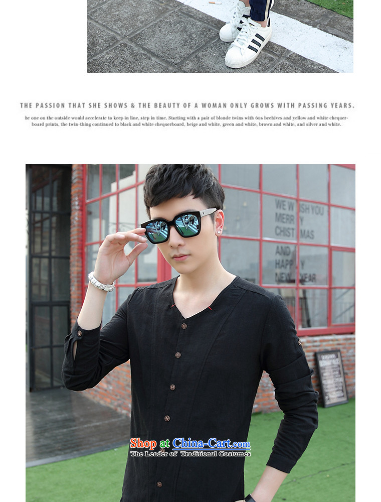 The date of autumn men cotton linen long-sleeved T-shirt V-Neck Kit 8042 light blue聽XXL picture, prices, brand platters! The elections are supplied in the national character of distribution, so action, buy now enjoy more preferential! As soon as possible.