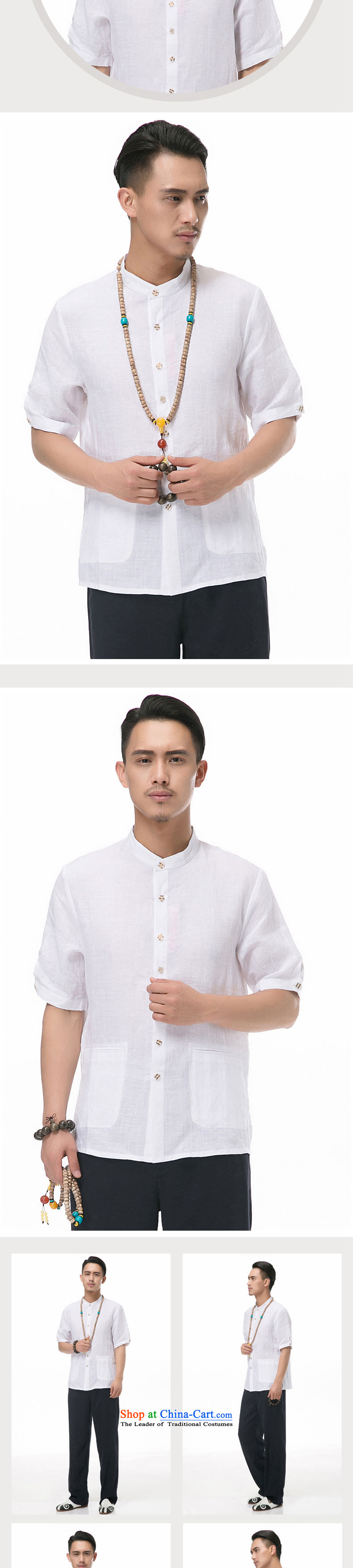 A new summer products men cotton linen short-sleeved shirt collar Chinese men coin cotton linen short-sleeved T-shirt China wind men 7 cuff short-sleeved Tang installed optional Army Green聽XXXL/190 picture, prices, brand platters! The elections are supplied in the national character of distribution, so action, buy now enjoy more preferential! As soon as possible.