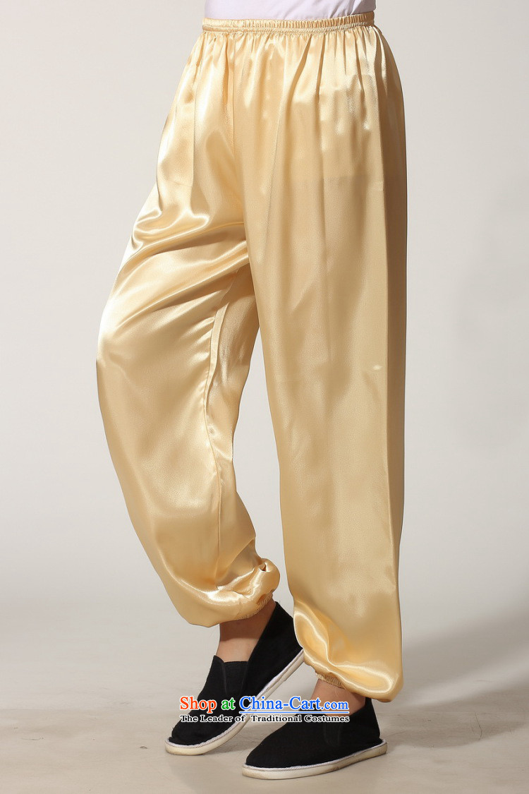 To Jing Ge older men summer Tang dynasty collar silk men long-sleeved kit for larger men's kung fu kit聽-D GOLD聽XL recommendations seriously pictures, price weighs 160-170, brand platters! The elections are supplied in the national character of distribution, so action, buy now enjoy more preferential! As soon as possible.