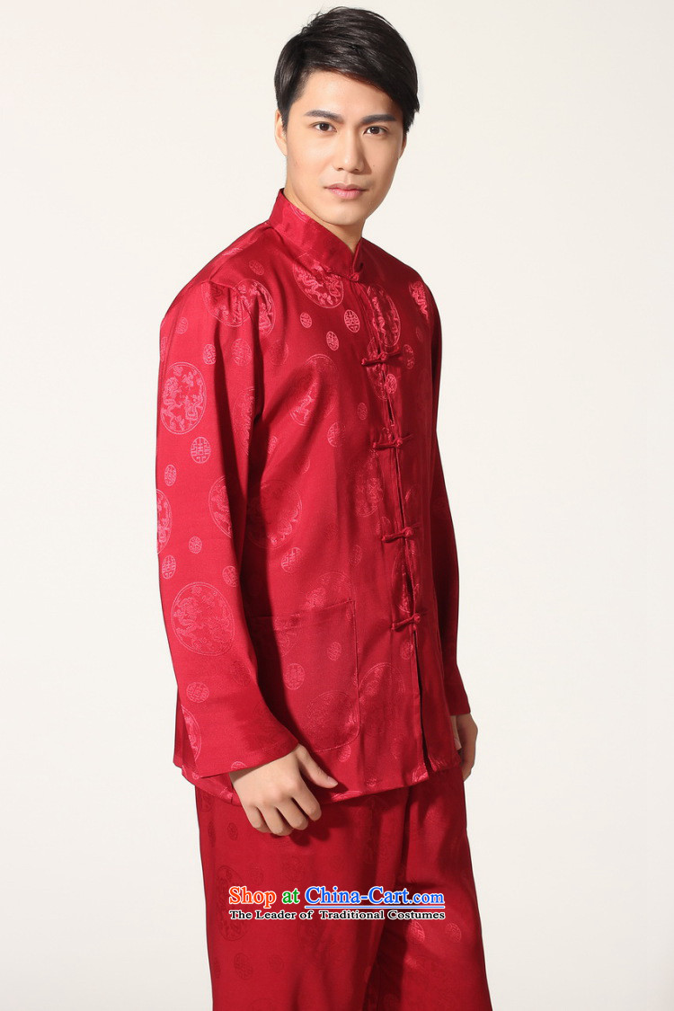 To Jing Ge older men summer Tang dynasty collar silk men long-sleeved kit for larger men's kung fu kit聽-C, wine red聽XL recommendations 160-175 catty picture, prices, brand platters! The elections are supplied in the national character of distribution, so action, buy now enjoy more preferential! As soon as possible.