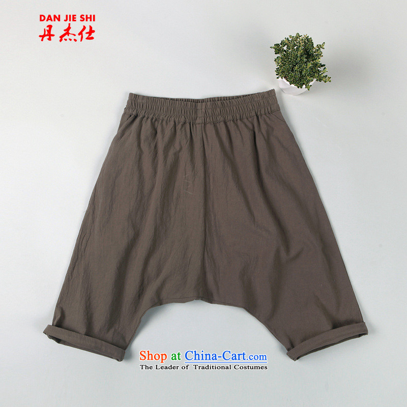Dan Jie Shi 2015 Date of nostalgia for the men in the flap disc trousers clip cotton linen pants breathable home service jogging homewear Swing Blue , L, Dan Jie can see (DANJIESHI) , , , shopping on the Internet