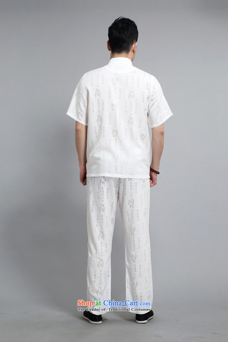 Silver armor Tang Dynasty Short-Sleeve Men spring and summer load of older persons in the Tang dynasty linen short-sleeved men Tang dynasty short-sleeve kit national costumes and white/175 pictures, prices, brand platters! The elections are supplied in the national character of distribution, so action, buy now enjoy more preferential! As soon as possible.