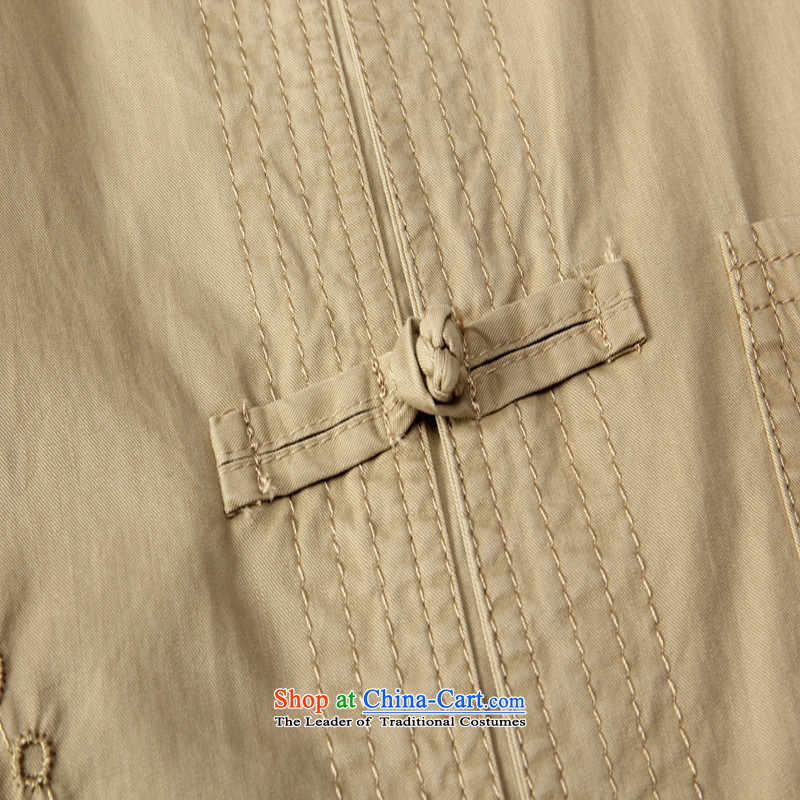 Sato Chu聽2015 men's short-sleeved shirt Tang dynasty in elderly men casual shirt China wind load father replacing pickles Taegeuk聽185/56/XXXL, color Sato Chu shopping on the Internet has been pressed.