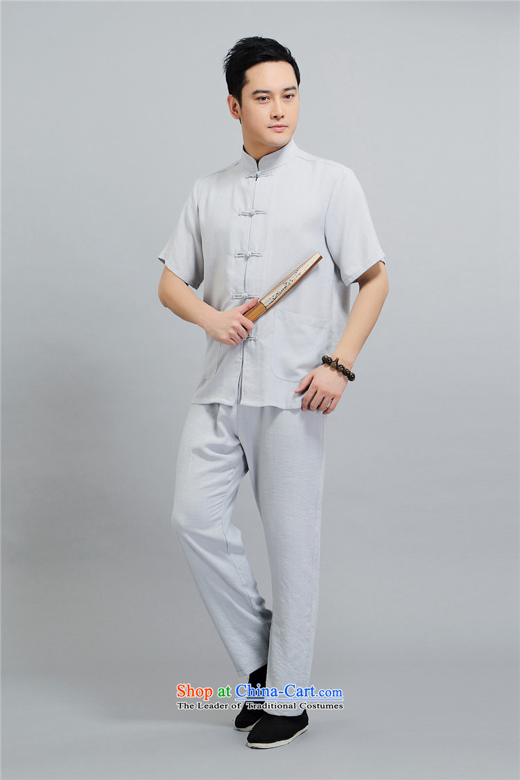 Hiv Rollet summer middle-aged men Tang dynasty short-sleeve kit of older people in China wind elderly men grandpa summer聽L/170 white shirt picture, prices, brand platters! The elections are supplied in the national character of distribution, so action, buy now enjoy more preferential! As soon as possible.
