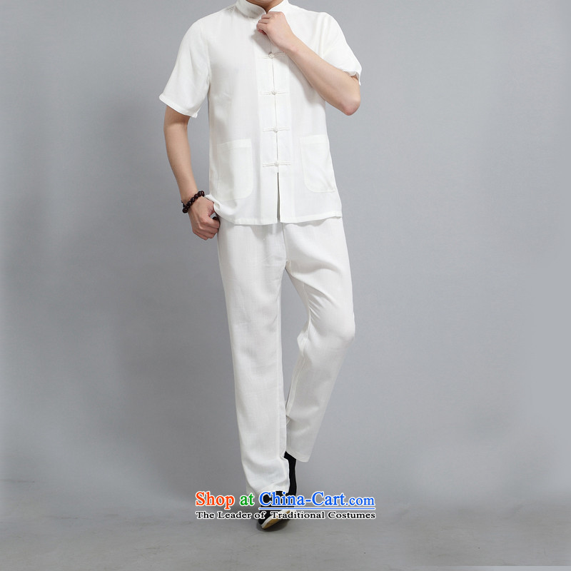 Hiv Rollet summer middle-aged men Tang dynasty short-sleeve kit of older people in China wind elderly men grandpa summer white shirt聽L/170, HIV ROLLET (AICAROLINA) , , , shopping on the Internet