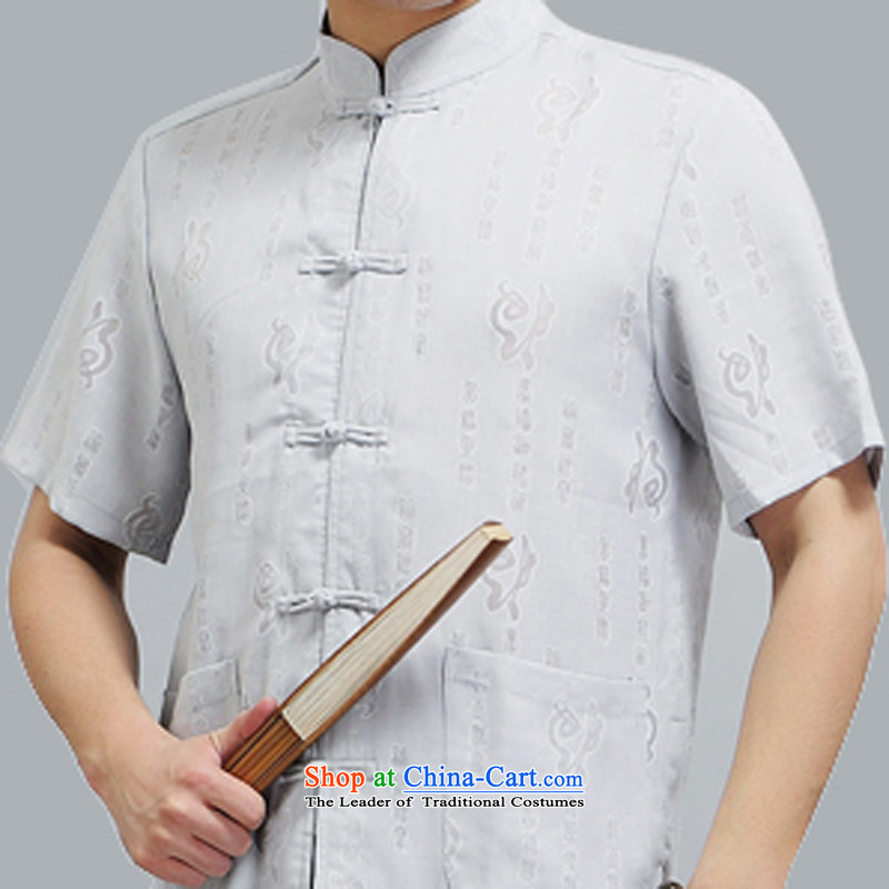 Hiv Rollet middle-aged men Tang dynasty short-sleeve packaged men of older persons in the Han-grandfather replacing men's short-sleeved summer beige聽XXL/180, HIV ROLLET (AICAROLINA) , , , shopping on the Internet