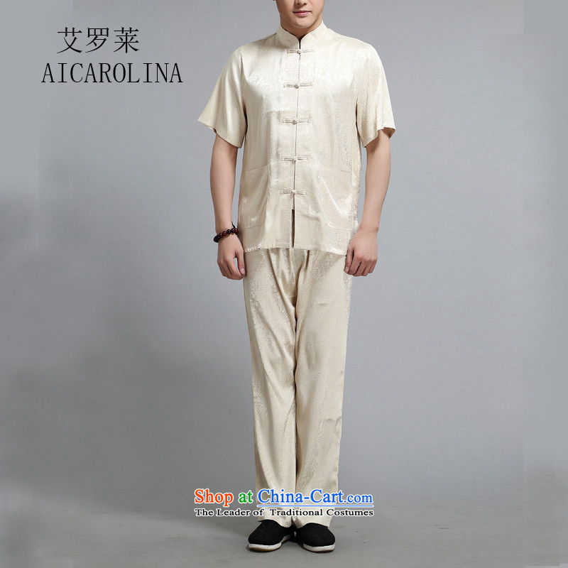 Hiv Rollet summer new national costumes Tang dynasty middle-aged short-sleeve packaged thin golden燣_170_
