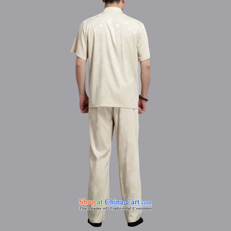 Hiv Rollet 2015 Summer New Tang Dynasty Han-middle-aged men Michael Mak short-sleeve kit national costumes XL/175, GOLD HIV ROLLET (AICAROLINA) , , , shopping on the Internet