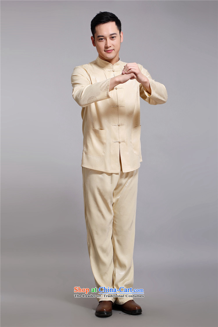 Hiv Rollet of older persons in the Tang Dynasty Men long-sleeved shirt Chinese China wind middle-aged man kit spring gold聽XXL/180 picture, prices, brand platters! The elections are supplied in the national character of distribution, so action, buy now enjoy more preferential! As soon as possible.