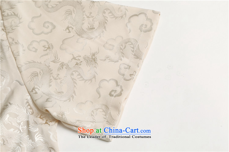 Hiv Rollet men in Tang Dynasty older men and short-sleeved middle-aged father of older persons Tang Dynasty Package half sleeve China wind male聽XXL/180 white picture, prices, brand platters! The elections are supplied in the national character of distribution, so action, buy now enjoy more preferential! As soon as possible.