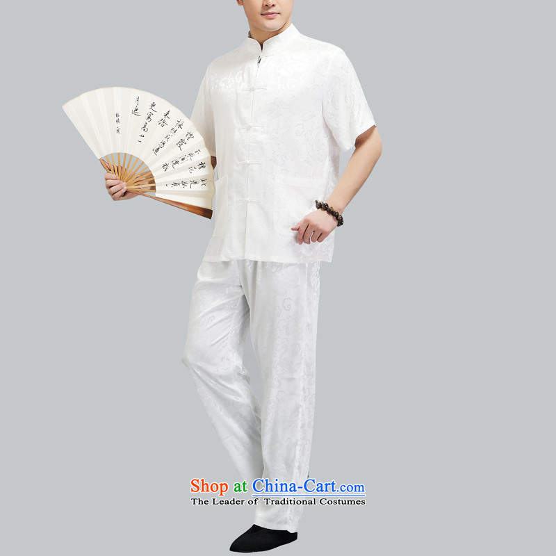 Hiv Rollet men in Tang Dynasty older men and short-sleeved middle-aged father of older persons Tang Dynasty Package half sleeve China wind male white聽XXL/180, HIV ROLLET (AICAROLINA) , , , shopping on the Internet