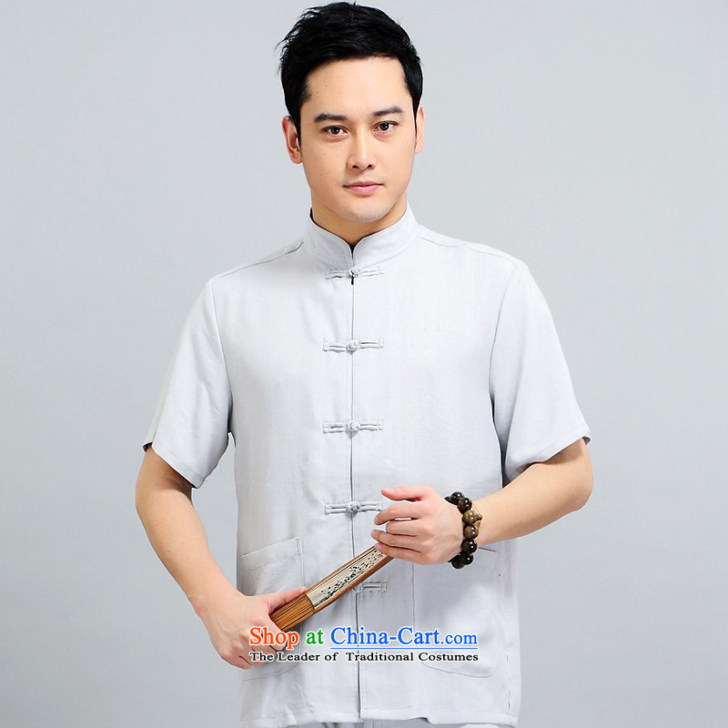Tang dynasty male short-sleeve kit AMOI, older men sauna silk men Tang dynasty jogs services practice suits Taegeuk service pack 1509 kit father yellow 190,JACK EVIS,,, shopping on the Internet