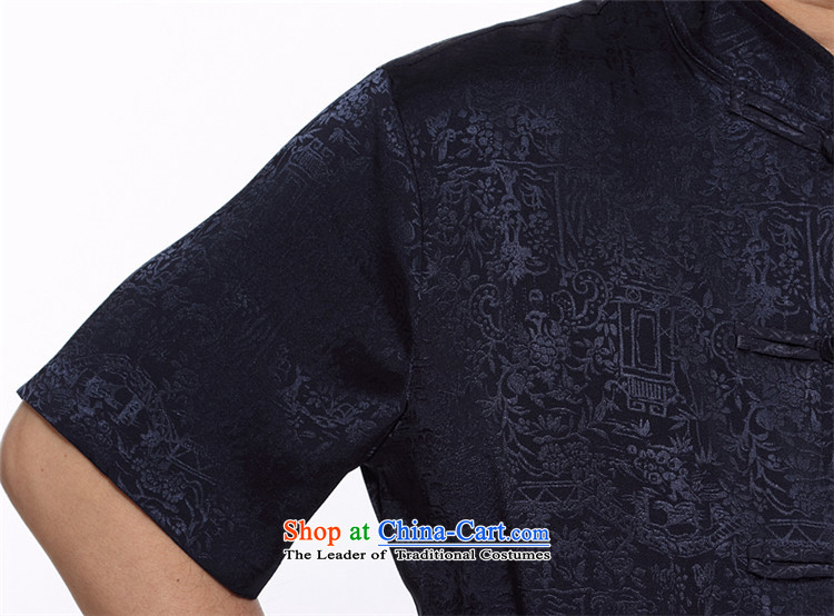 Hiv Rollet Chinese men kit summer New China wind men middle-aged men Tang dynasty short-sleeved shirt pants white S picture, prices, brand platters! The elections are supplied in the national character of distribution, so action, buy now enjoy more preferential! As soon as possible.