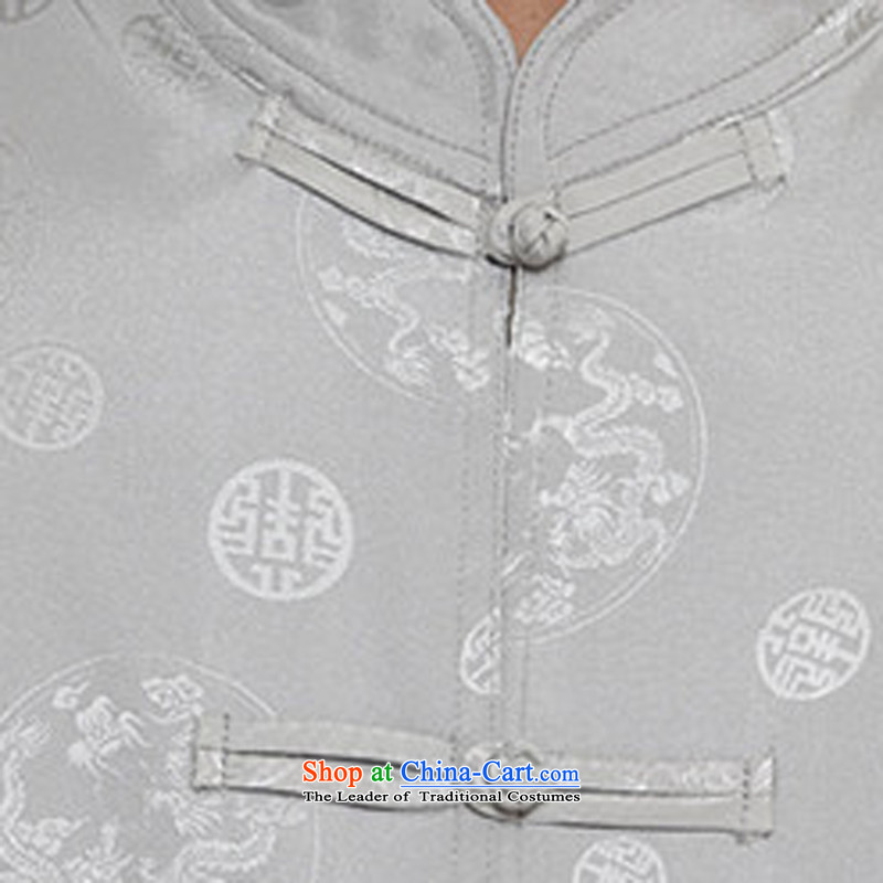 Airault letang replacing men summer short-sleeved in Tang Dynasty older Short-Sleeve Men Kit Silver Loaded聽S middle-aged father HIV ROLLET (AICAROLINA) , , , shopping on the Internet
