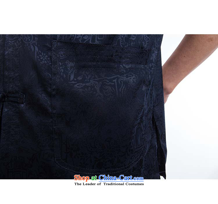 Hundreds of brigade bailv summer stylish thin plate fasteners casual collar short-sleeved comfortable elasticated trousers men's packaged deep blue聽185 pictures, prices, brand platters! The elections are supplied in the national character of distribution, so action, buy now enjoy more preferential! As soon as possible.