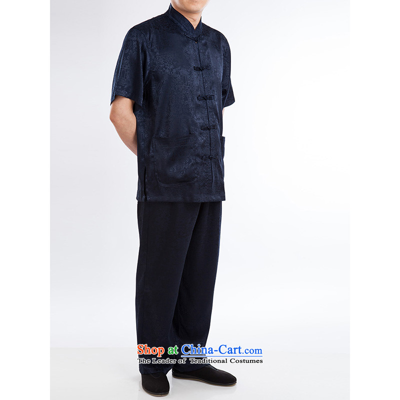 Hundreds of brigade bailv summer stylish thin plate fasteners casual collar short-sleeved comfortable elasticated trousers men's packaged deep blue聽185, 100 (bailv) , , , shopping on the Internet