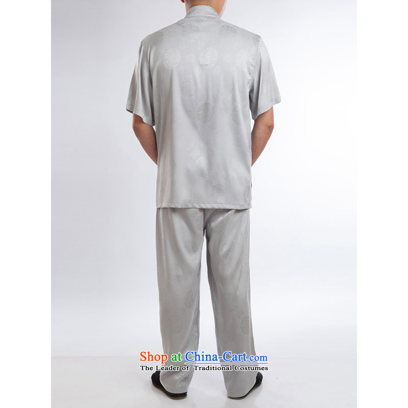 Hundreds of brigade bailv summer stylish thin plate fasteners casual collar short-sleeved comfortable elasticated trousers men's Suite 185, light gray (bailv hundreds) , , , shopping on the Internet
