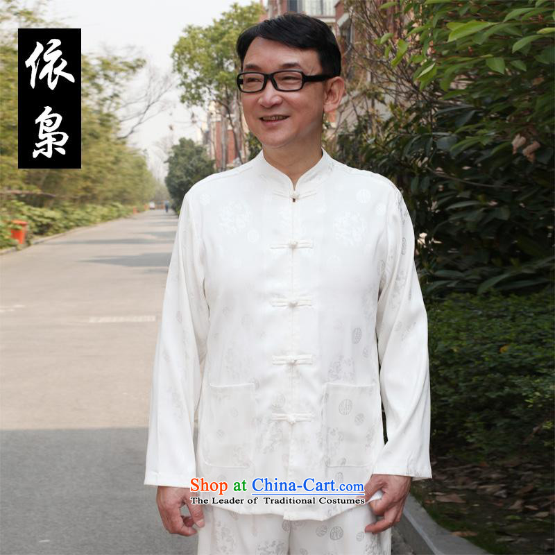 In accordance with the consultations during the summer 2015 father boxed long-sleeved home China wind half sleeve t-shirt shirt that older men casual shirts, short-sleeved T-shirt Father's Day Gifts white�0_4XL recommended weight 190-210 catty