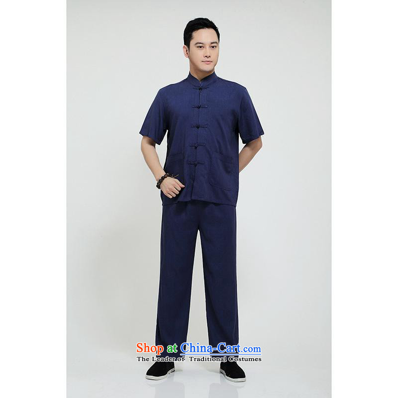 Hundreds of brigade bailv summer stylish thin plate fasteners casual collar short-sleeved comfortable elasticated trousers men's packaged deep blue 165, Shan Oak Overgrown Tomb Gigi Lai (shine mainceteam) , , , shopping on the Internet