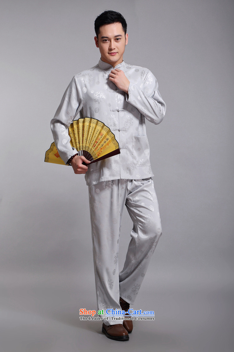 Silver armor Tang dynasty men's summer Tang dynasty male Kit Han-long-sleeved China wind up the clip in silk manually older Chinese men yellow 175 pictures, prices, brand platters! The elections are supplied in the national character of distribution, so action, buy now enjoy more preferential! As soon as possible.