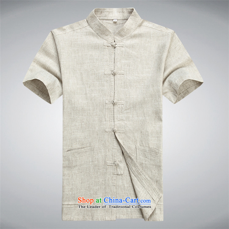 Kanaguri mouse men Tang Dynasty Package for short-sleeved shirt with older manually disc detained Chinese national costumes Tang replacing light gray suit聽L picture, prices, brand platters! The elections are supplied in the national character of distribution, so action, buy now enjoy more preferential! As soon as possible.
