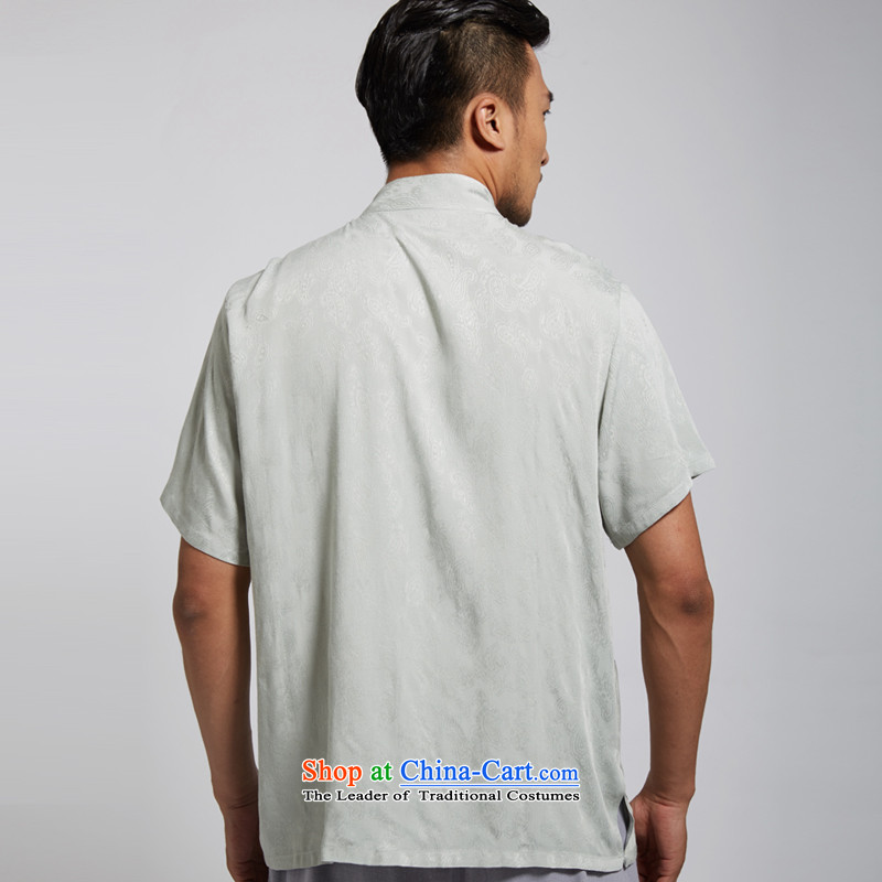 Fudo de Feng Hua 2015 Summer New Cotton Men Tang Dynasty Chinese clothing short-sleeved green XL, Tak Fudo shopping on the Internet has been pressed.