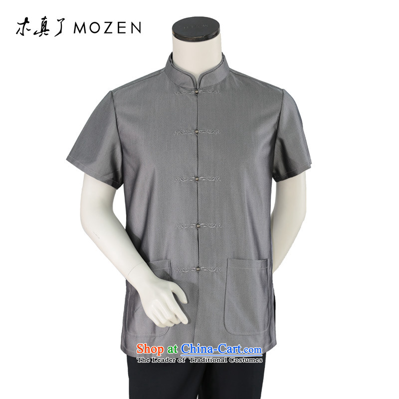 True 2015 : New half sleeve in older men silk father blouses?32409 06 carbon?M
