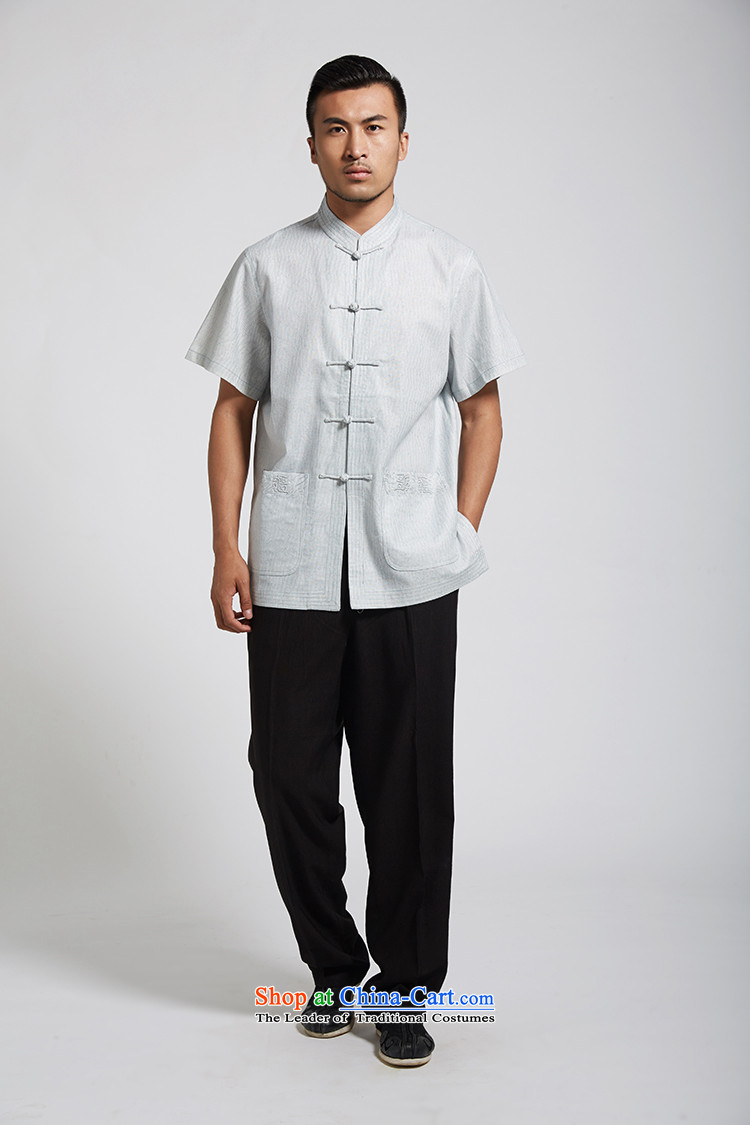 Fudo daughter and de聽2015 Summer linen men Tang dynasty short-sleeved Chinese clothing China wind light blue聽XXXL picture, prices, brand platters! The elections are supplied in the national character of distribution, so action, buy now enjoy more preferential! As soon as possible.