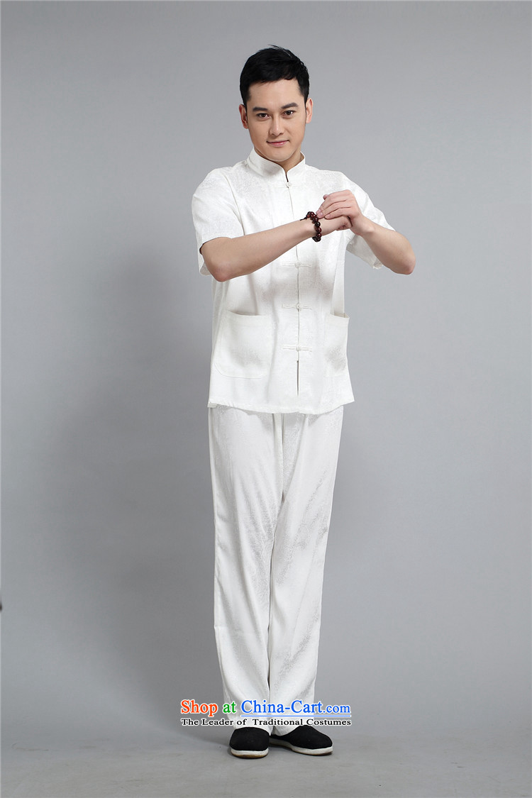Kyung-ho, older short-sleeved Tang dynasty male middle-aged men short-sleeved summer short-sleeved shirt older persons Kit White聽XXL picture, prices, brand platters! The elections are supplied in the national character of distribution, so action, buy now enjoy more preferential! As soon as possible.