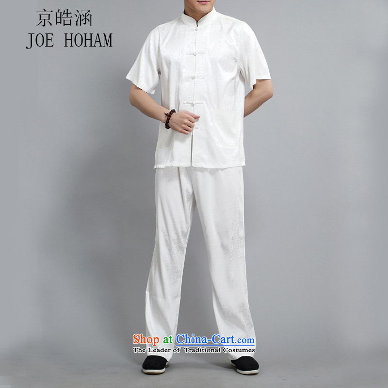 Kyung-ho, older short-sleeved Tang dynasty male middle-aged men short-sleeved summer short-sleeved shirt older persons kit XXL, Kyung-ho covered by white (JOE HOHAM) , , , shopping on the Internet