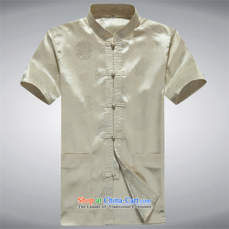 Beijing Summer Europe men short-sleeved Tang Dynasty Han-short-sleeved Tang Tang dynasty in older men short-sleeved Tang Dynasty New Red S picture, prices, brand platters! The elections are supplied in the national character of distribution, so action, buy now enjoy more preferential! As soon as possible.
