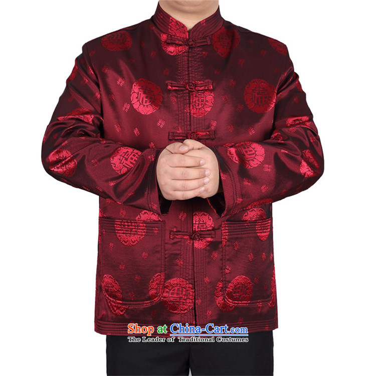 Kanaguri Mouse China wind spring new Tang Dynasty Chinese father of men and the elderly in the jacket of the Tang dynasty field red T-shirt聽L picture, prices, brand platters! The elections are supplied in the national character of distribution, so action, buy now enjoy more preferential! As soon as possible.