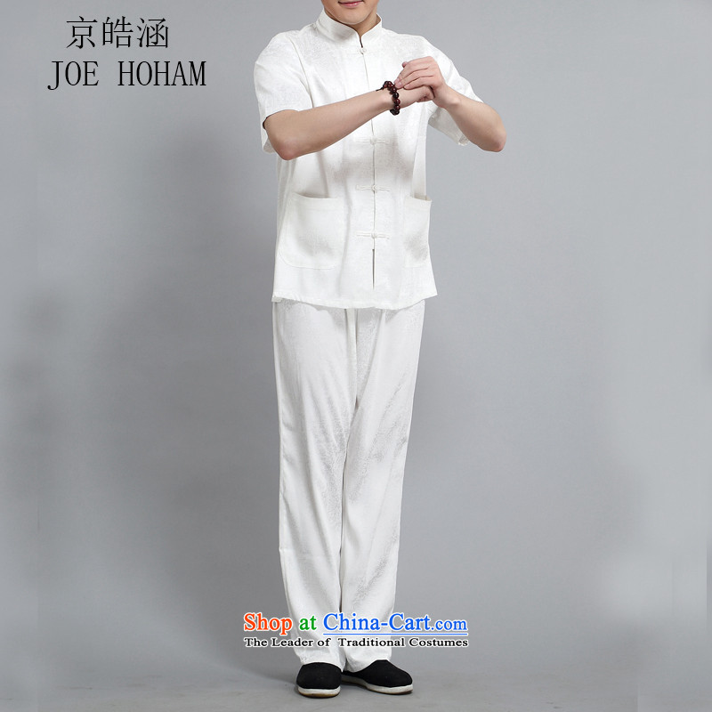 Kyung-ho, Tang dynasty older Short-Sleeve Men national casual shirt summer father kit聽XXL, Kyung-ho covered by white (JOE HOHAM) , , , shopping on the Internet