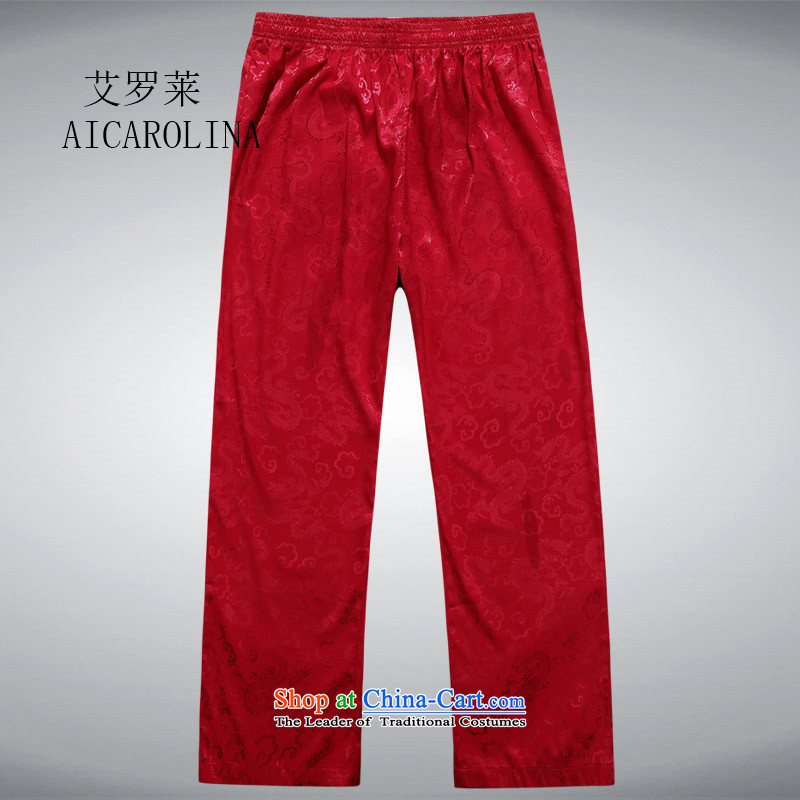 Rollet HIV from older men's Tang Dynasty Chinese Han-Summer Ball-middle-aged services pants leisure summer father red XL, HIV (AICAROLINA ROLLET) , , , shopping on the Internet
