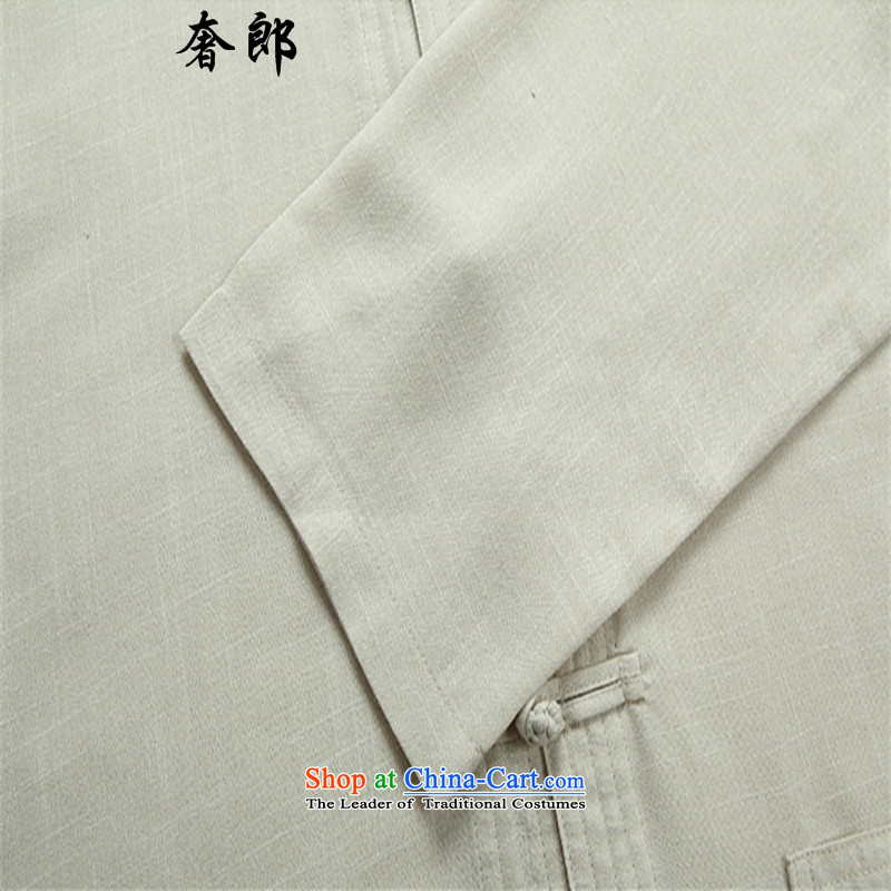 The luxury Health2015 New Men Tang Dynasty Package of older persons in long-sleeved men father spring and fall China wind Han-rom 6-21 elderly grandparents summer clothing beigeM/170, kit luxury health , , , shopping on the Internet