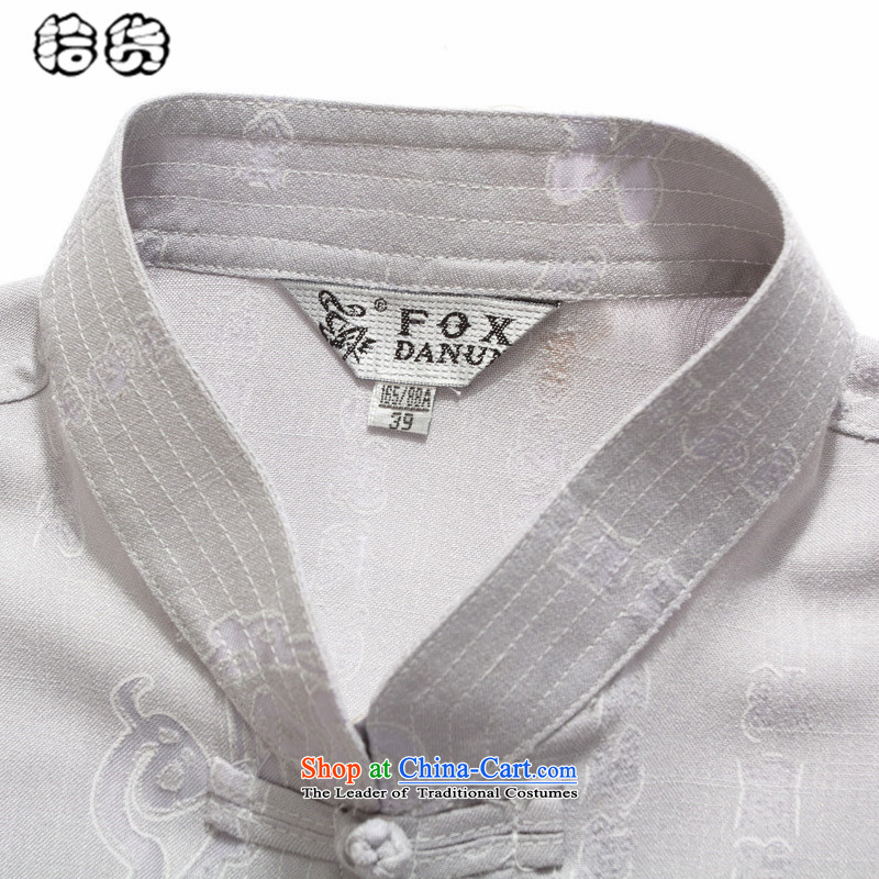 The OSCE, in the summer of 2015, the name of the Tang dynasty older men summer new products short-sleeved shirt with large middle-aged loose linen more pocket dad summer load white聽185 euros (ougening lemonade.) , , , shopping on the Internet