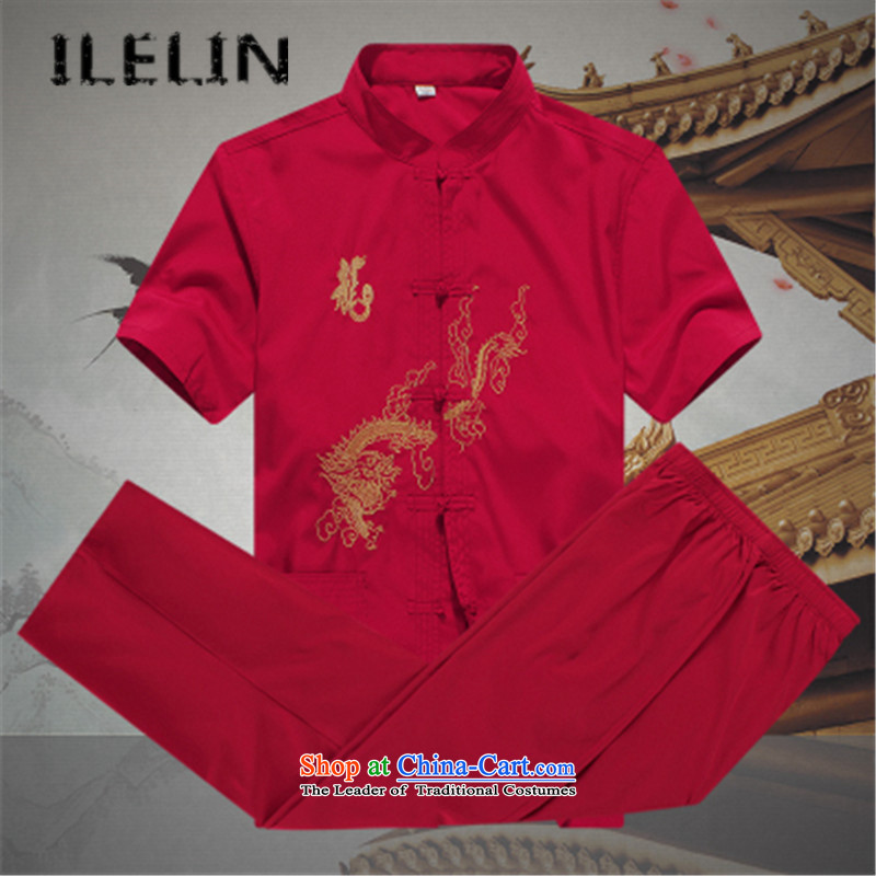 Mr Ronald, male ILELIN2015 Tang Dynasty Package summer short-sleeved of older persons in the elderly men's father and grandfather Tang Dynasty Large relaxd summer聽A WHITE聽185,ILELIN,,, shopping on the Internet