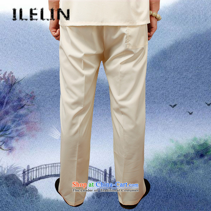 Mr Ronald, male ILELIN2015 trousers China wind male Tang Dynasty Large loose trousers summer Chinese men's trousers, comfort and breathability and simple Han-red XXL,ILELIN,,, shopping on the Internet