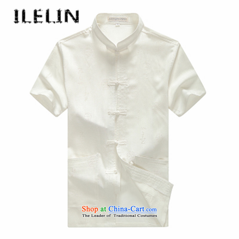 Mr Ronald) Elderly ILELIN2015 men Tang dynasty male summer short-sleeved China wind men Han-large grandfather replacing older persons for summer linen male gray聽175,ILELIN,,, shopping on the Internet