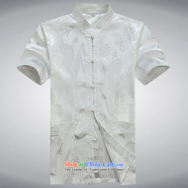 Hundreds of brigade bailv summer Stylish slim, collar comfortable short-sleeved leisure wears ties up White?XL