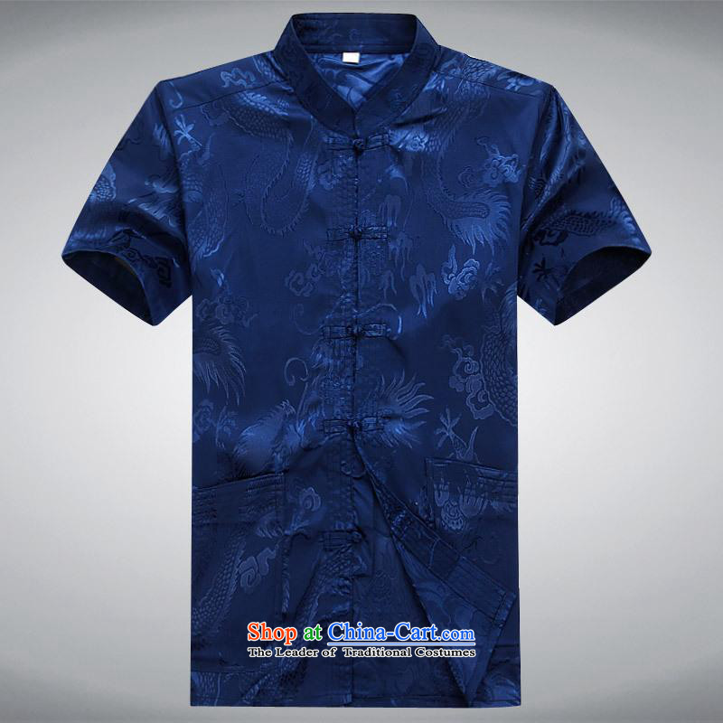 Hundreds of brigade bailv summer Stylish slim, collar comfortable short-sleeved leisure wears ties tray blue?M